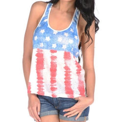 Juniors Americana Distressed Flag Tank Top - The Flag Shirt