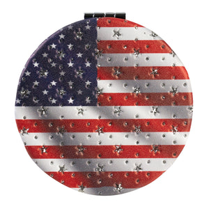 American Flag Makeup Mirror for Purse and Travel - theflagshirt