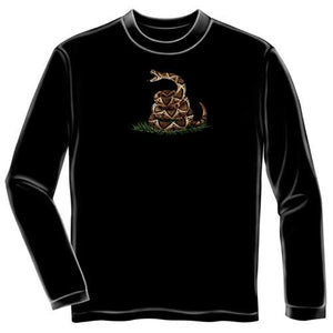 Dont Tread On Me Mens Long Sleeve T-Shirt - Black - The Flag Shirt
