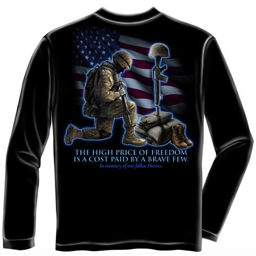 Soldier In Memory Mens Long Sleeve T-Shirt - The Flag Shirt