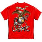 Load image into Gallery viewer, Red Semper Fidelis Mens T-Shirt - The Flag Shirt
