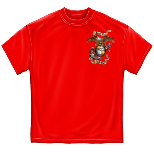 Red Semper Fidelis Mens T-Shirt - The Flag Shirt