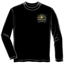 First In Last Out Mens Long Sleeve T-Shirt - The Flag Shirt