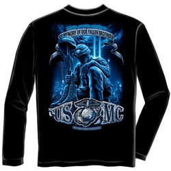 USMC In Memory Of Our Fallen Brothers Mens Long Sleeve T-Shirt - The Flag Shirt