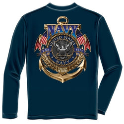 NAVY The Sea is Ours Mens Long Sleeve T-Shirt - The Flag Shirt