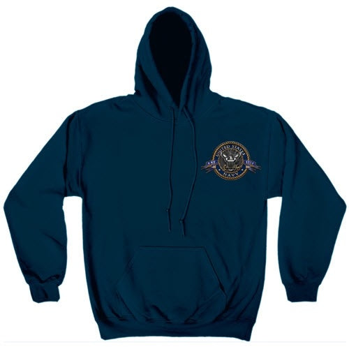 NAVY The Sea is Ours Mens Hooded Sweatshirt - The Flag Shirt