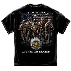 USMC Brotherhood Mens T-Shirt - The Flag Shirt