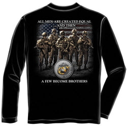 USMC Brotherhood Mens Long Sleeve T-Shirt - The Flag Shirt