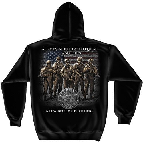 Army Brotherhood Mens Hooded Sweatshirt - theflagshirt