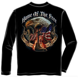 Home of the Free Because of the Brave Mens Long Sleeve T-Shirt - The Flag Shirt