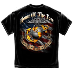 USMC Home of the Free Mens T-Shirt - The Flag Shirt