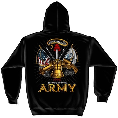 Army Antique Armor Mens Hooded Sweatshirt - theflagshirt