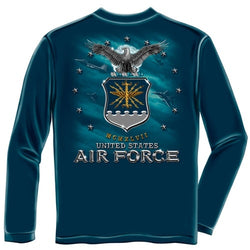 USAF Air Force Missile Mens Long Sleeve T-Shirt - The Flag Shirt