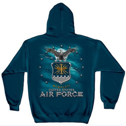 USAF Air Force Missile Mens Hooded Sweatshirt - theflagshirt