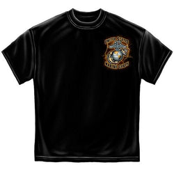 USMC Gold Lightning Time Honor Tradition Mens T-Shirt - The Flag Shirt