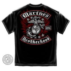 USMC Biker with Rockers Mens T-Shirt - The Flag Shirt