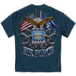 Air Force Double Flag Eagle Mens T-Shirt