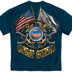 Coast Guard Double Flag Mens T-Shirt