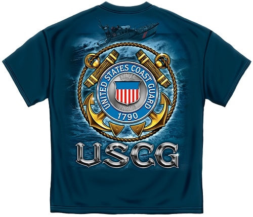 USCG Coast Guard Mens T-Shirt - The Flag Shirt