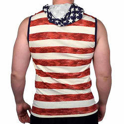 Mens Muscle tank stripes print