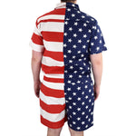 Load image into Gallery viewer, Mens american flag romper - the flag shirt