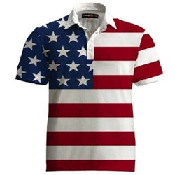 American Flag Stars and Stripes Shirt for Golf - The Flag Shirt
