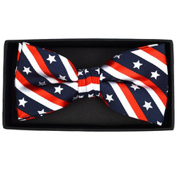 Mens USA Flag Bow Tie