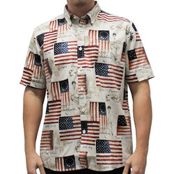 Mens USA American Flag Button Down Shirt - The Flag Shirt