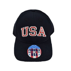 Made in the USA Structured Chino Cotton Twill Cap - Navy