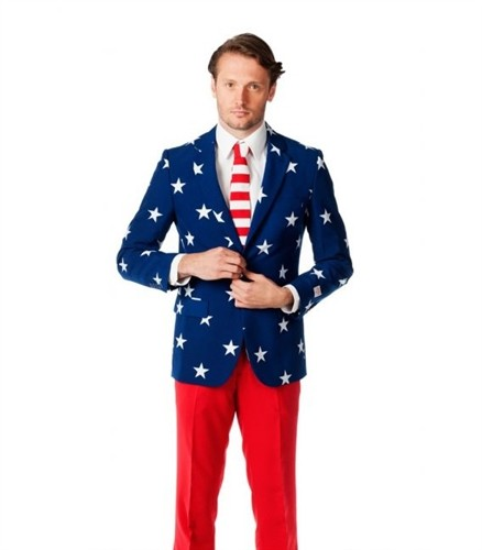American Flag Suit with Blazer, Tie and Pants | The Flag Shirt