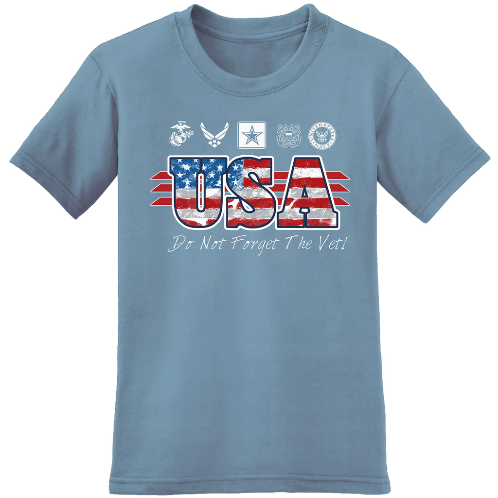 Do Not Forget The Vets - Represent Veterans from all Branches of the USA Armed Forces - the flag shirt