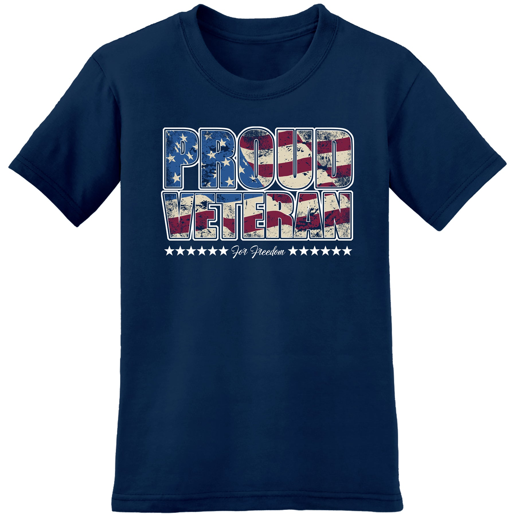 Proud Veteran For Freedom- Represent Veterans from all Branches of the USA Armed Forces - the flag shirt