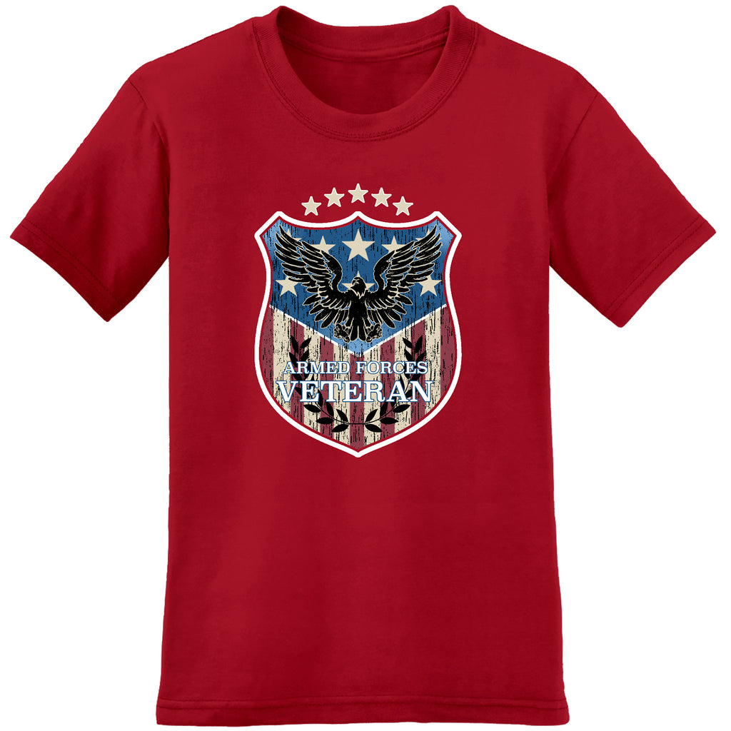 USA armed forces veteran red - the flag shirt