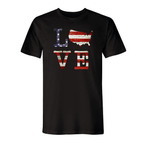 Love USA Men's Made In America T-Shirt - the flag shirt