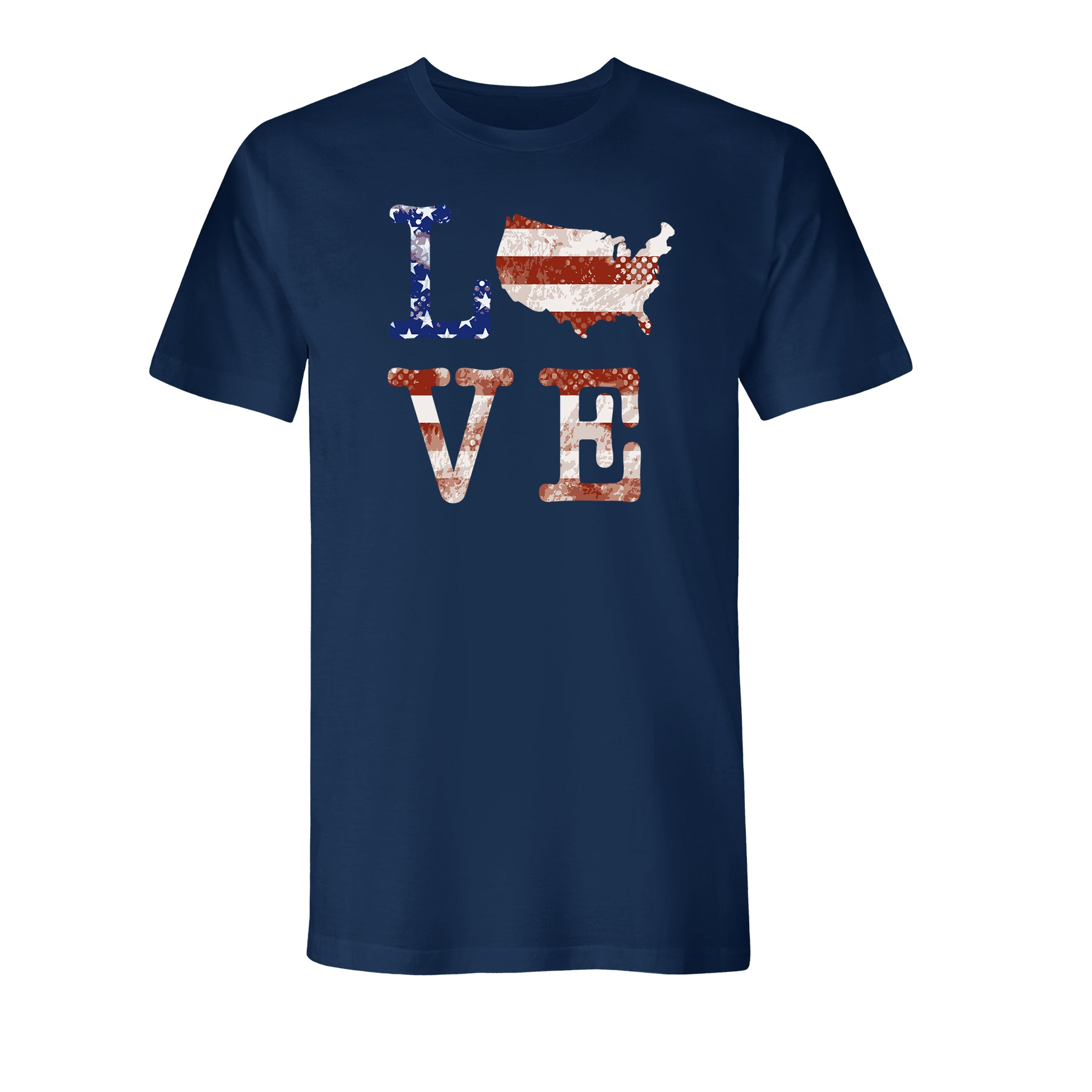 Love USA Men's Made In America Athletic Navy T-Shirt