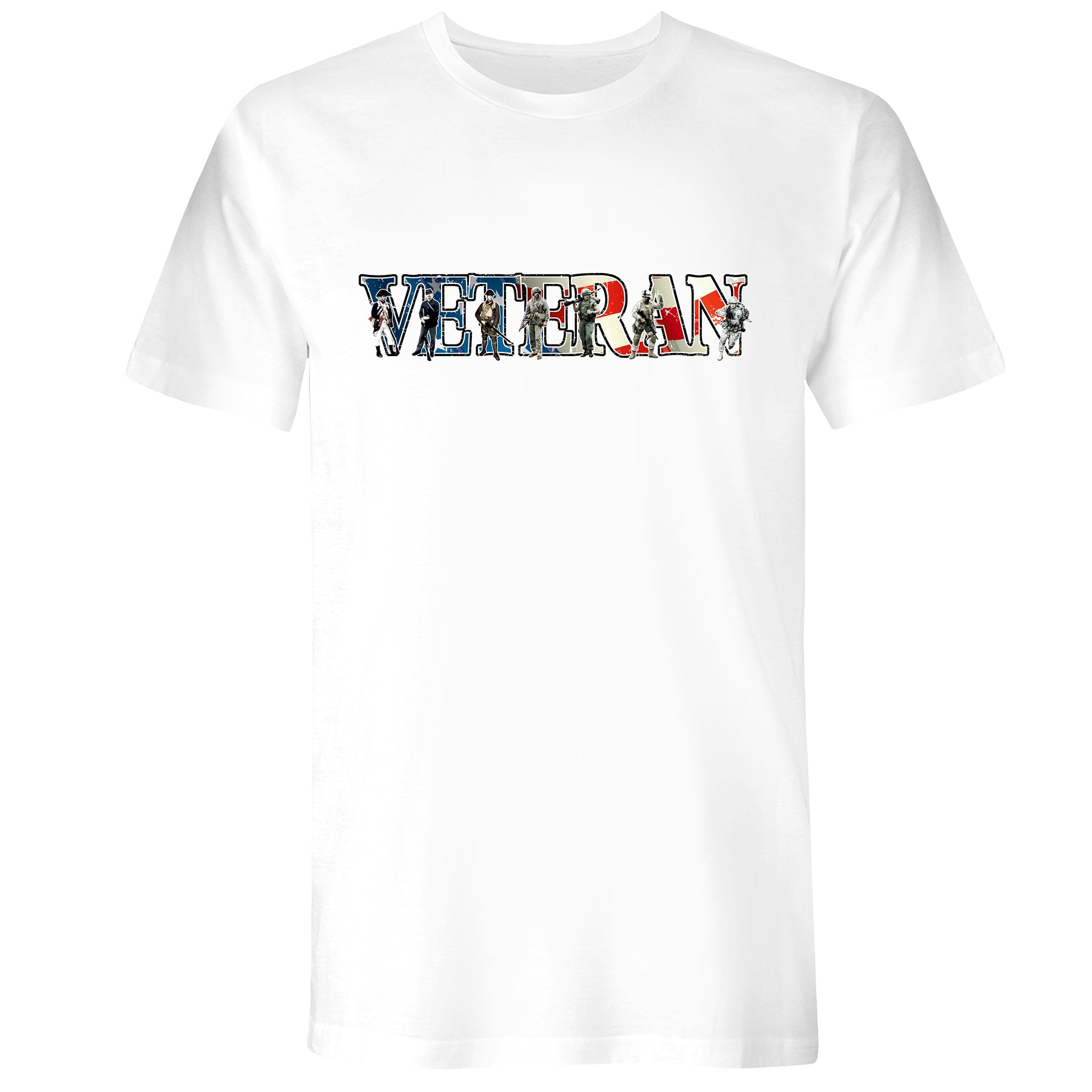 Mens Veteran Soldiers Tee - White