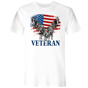 Mens US Veteran Tee White - the flag shirt