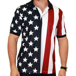 Performance Golf American Flag Shirt