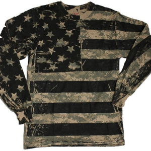 RCO - Digital Camo Long Sleeve Flag Tshirt - The Flag Shirt