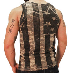 Black and White Camo American Flag Mens Tank Top - The Flag Shirt