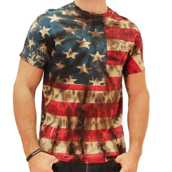 Retro American Flag Tie Dye Mens T-shirt - The Flag Shirt