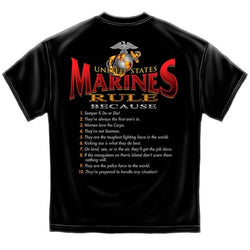 Marines Rule Mens T-Shirt - The Flag Shirt