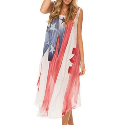 American Woman Beach Cover Up - The Flag Shirt