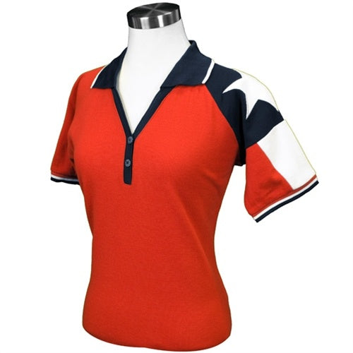 Ladies Texas Original Pique Polo in Red - theflagshirt