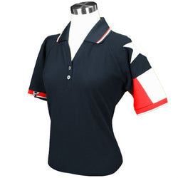 Ladies Texas Original Pique Polo in Navy - theflagshirt