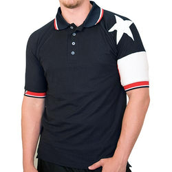 Mens Texas Original Pique Polo in Navy