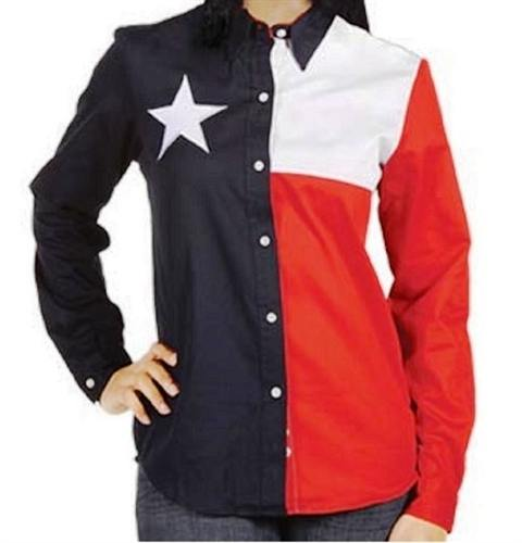 Texas Lady Independence Button down Shirt - theflagshirt