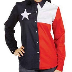Texas Lady Independence Button down Shirt - The Flag Shirt