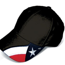 Embroidered Texas Original Hat-Black - The Flag Shirt