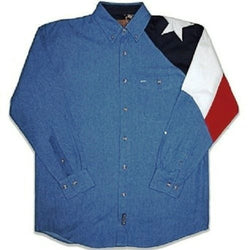 Mens Texas Flag Shirt-Demin - The Flag Shirt